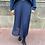 jupe plissée bleue unie