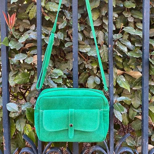 sac cartable vert