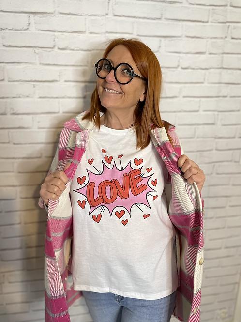 tee shirt inscription love rose