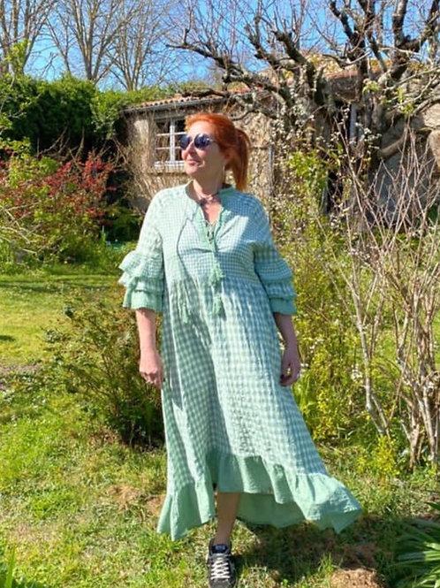 robe longue carreaux