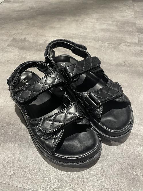 Dad sandales noires