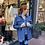 veste matelassée bleu jean
