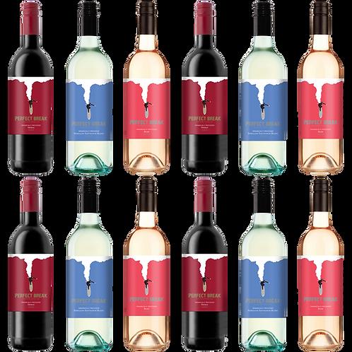 Perfect Break Wines Variety Dozen Pack (12x 750ml)