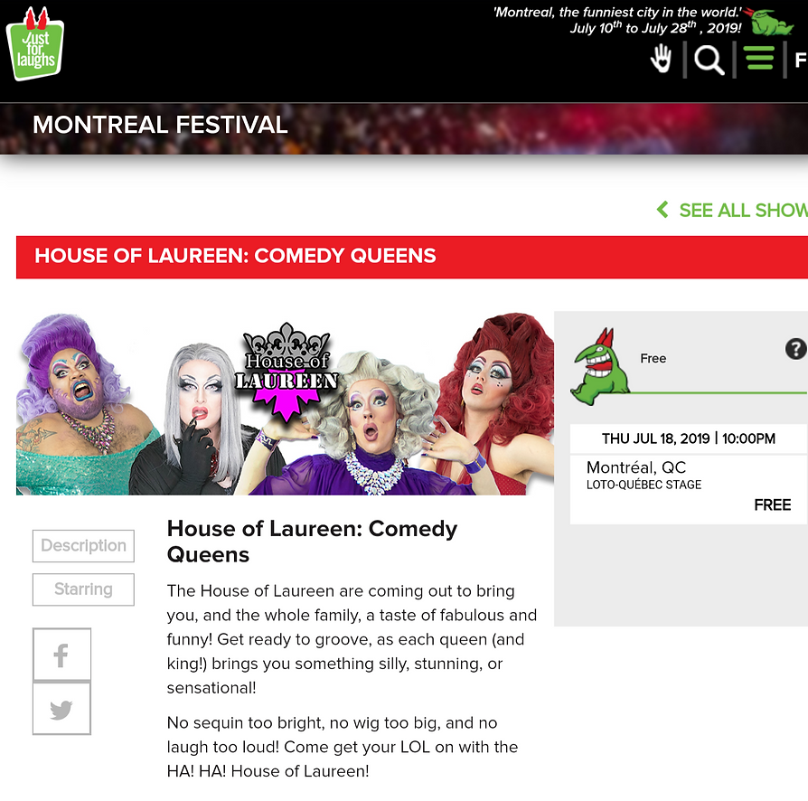 Just For Laughs 2019 Montreal Festival - House of Laureen