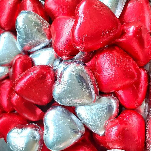 Milk Chocolate Foil Wrapped Hearts