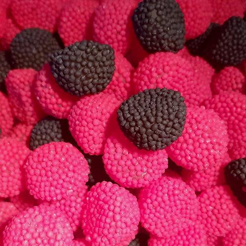 Jelly Raspberry and Blackberries