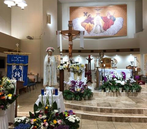 Crowning of Our Lady of Fatima on May 13th, 2020 at St. Martha Catholic Church, Valinda CA
