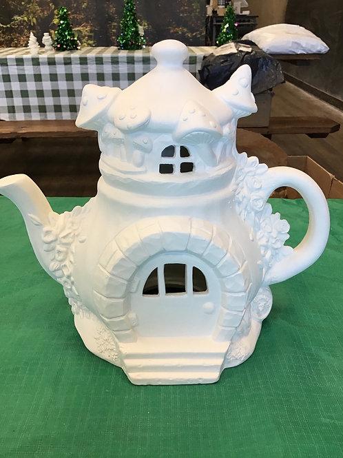Tea Pot Fairy House #2 *light up*