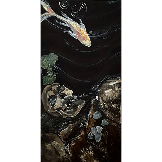 Original Artwork - Skull Pondscape