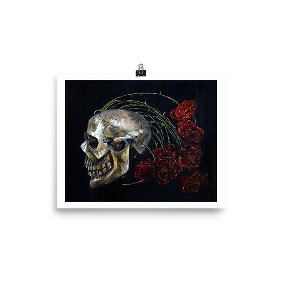 Art Print - Skull & Roses