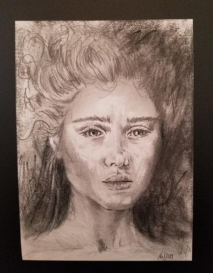 """5"""" x 7"""" portrait of a woman"""