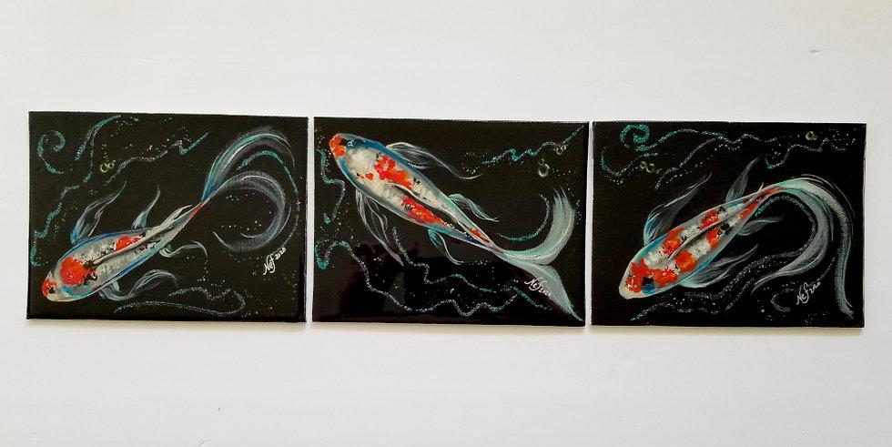 "6x8"" original gloss topcoat triptych"