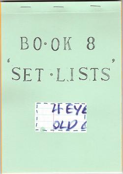 Bo-ok 8 Set Lists
