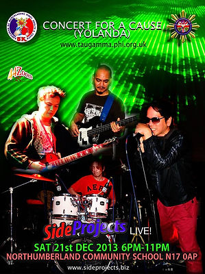 Side Projects live at Yolanda charity gig
