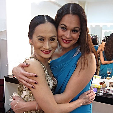 Gia Macuja with sister Liza Macuja Elizalde