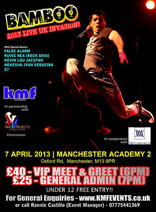 Side Projects Productions present Bamboo live in UK 2013