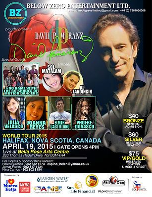 David pomeranz Europe Tour