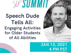 Catch me at the SLP Summit! 1/13/2021