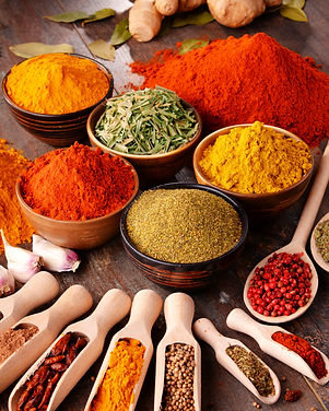 Variety of spices on kitchen table..jpg