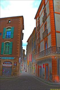 Rue Mercière à Pézenas (Hérault)