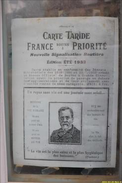 Extrait d'une carte Taride de 1913...décalé!