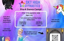 PreK Dance Camp