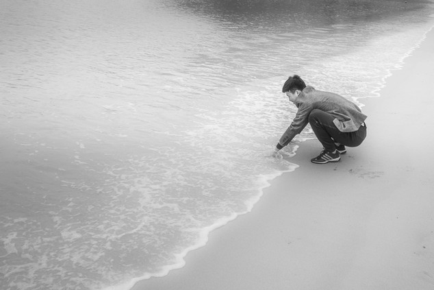 Photo 2 . Train of waves sense