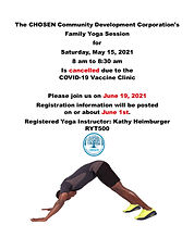 Cancelled Yoga Class 2021 May 15 Instruc