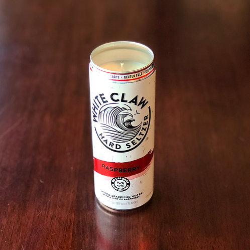White Claw Raspberry Candle
