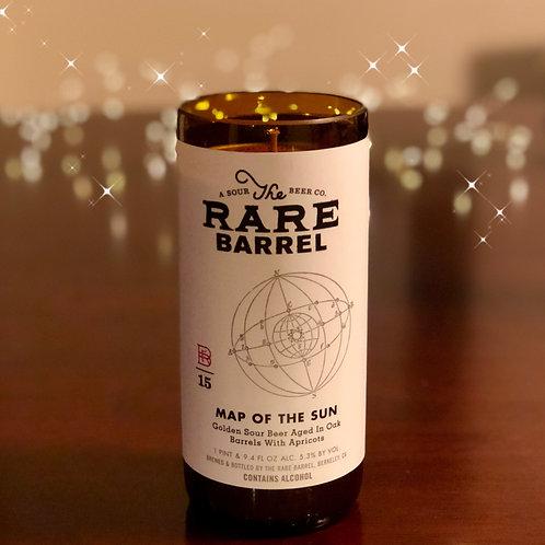 Rare Barrel Map of the Sun Candle