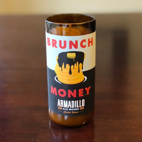 Armadillo Ale Works Brunch Money Candle