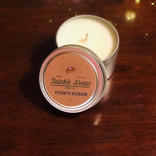 Bourbon Pecan Pie Candle Tin