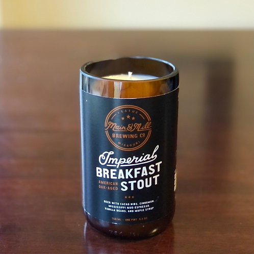 Main & Mill Imperial Breakfast Stout Candle