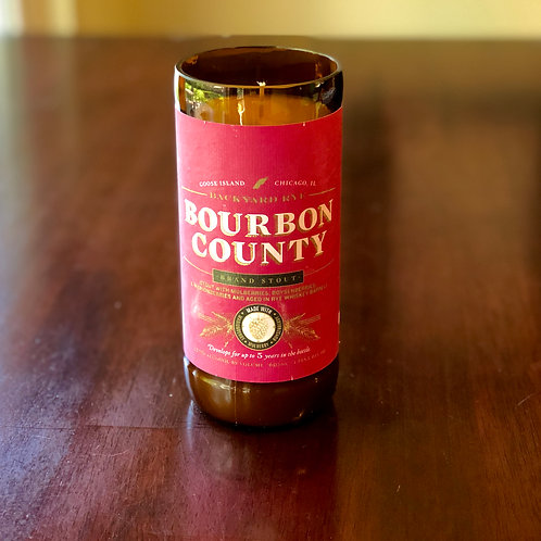Goose Island Bourbon County with Mulberries/Boysenberries Candle
