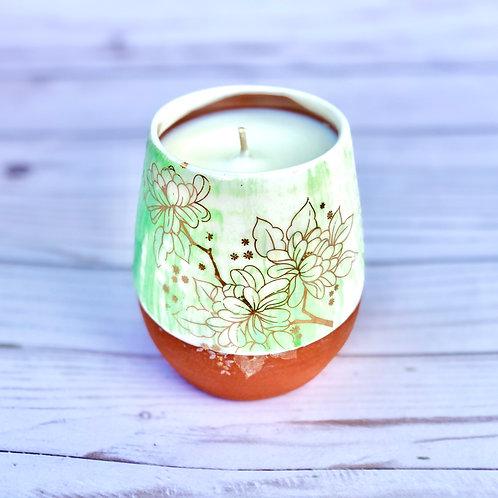 Tea/Lavender Wine Tumbler Candle