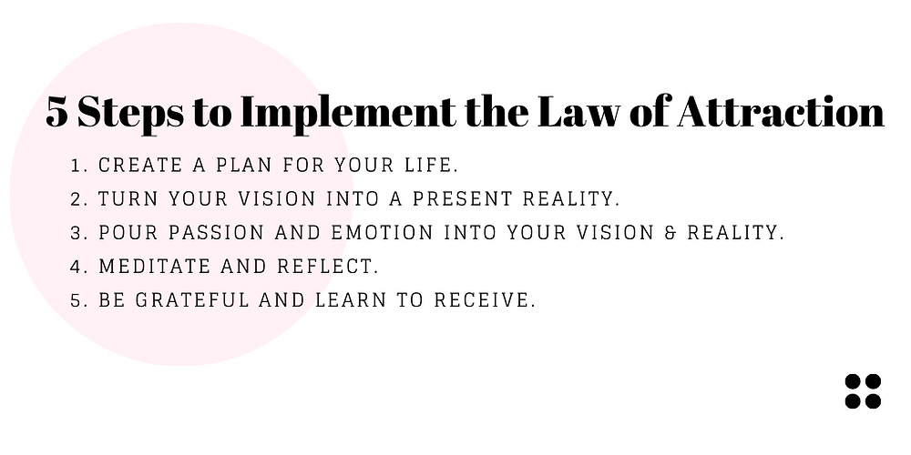 5 Steps to Implement the Law of Attraction