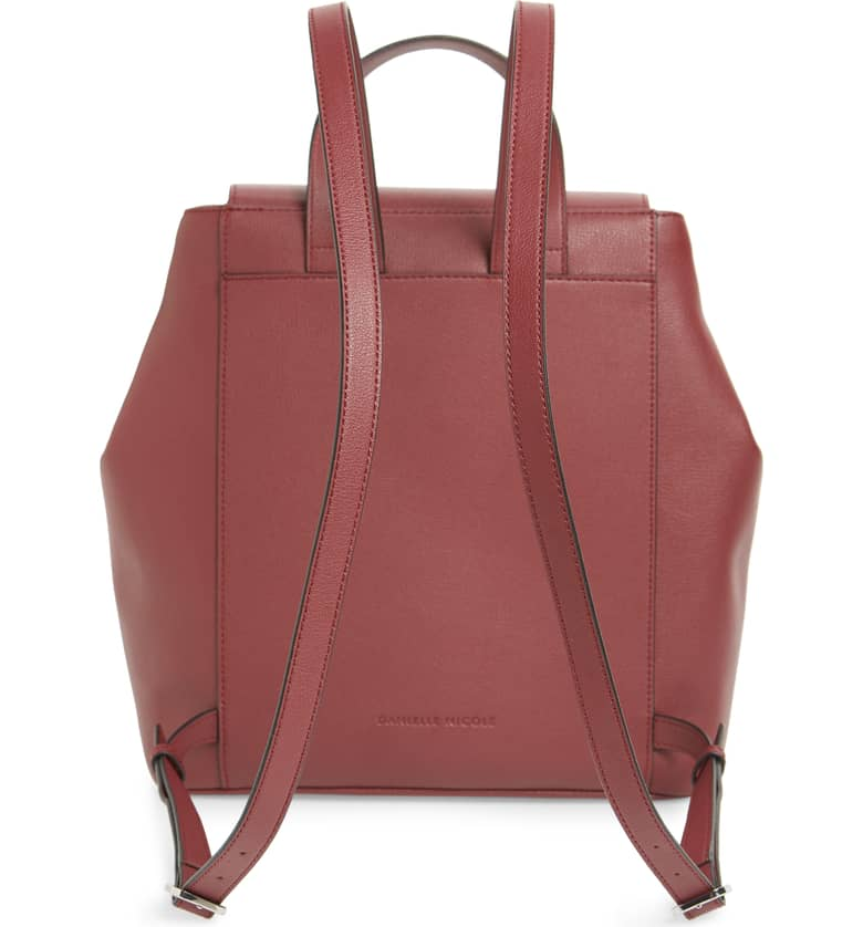 Nolan Faux Leather Backpack Back