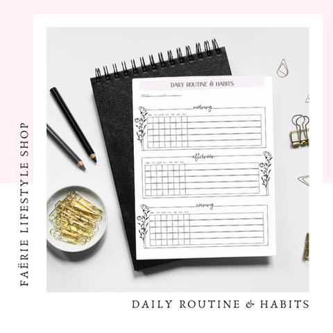 Daily Routines and Habits Tracker