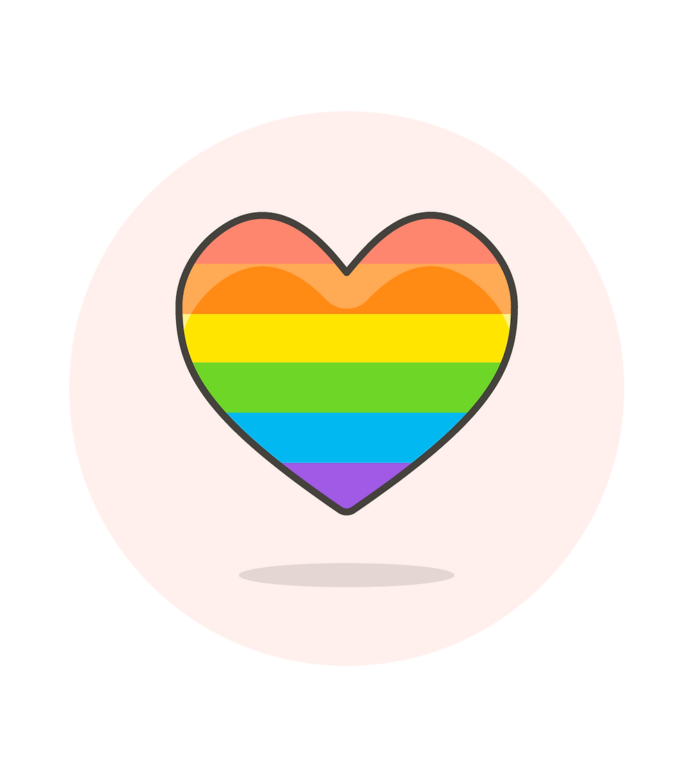 LGBTQ+ Flag Heart