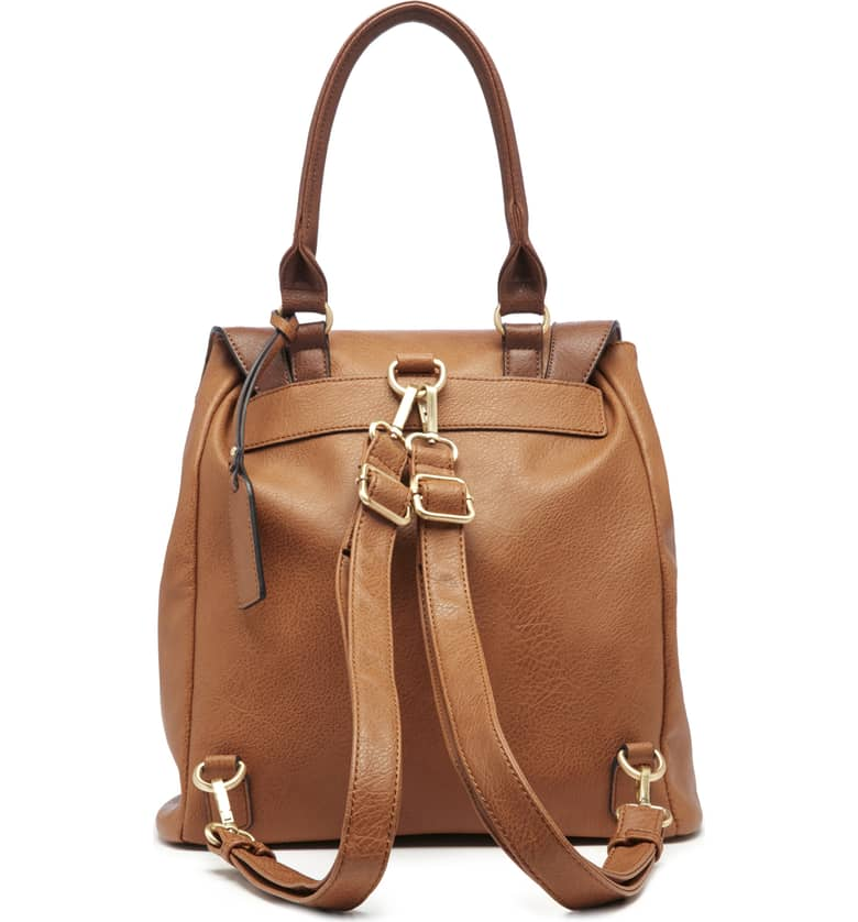 Happy Faux Leather Backpack B