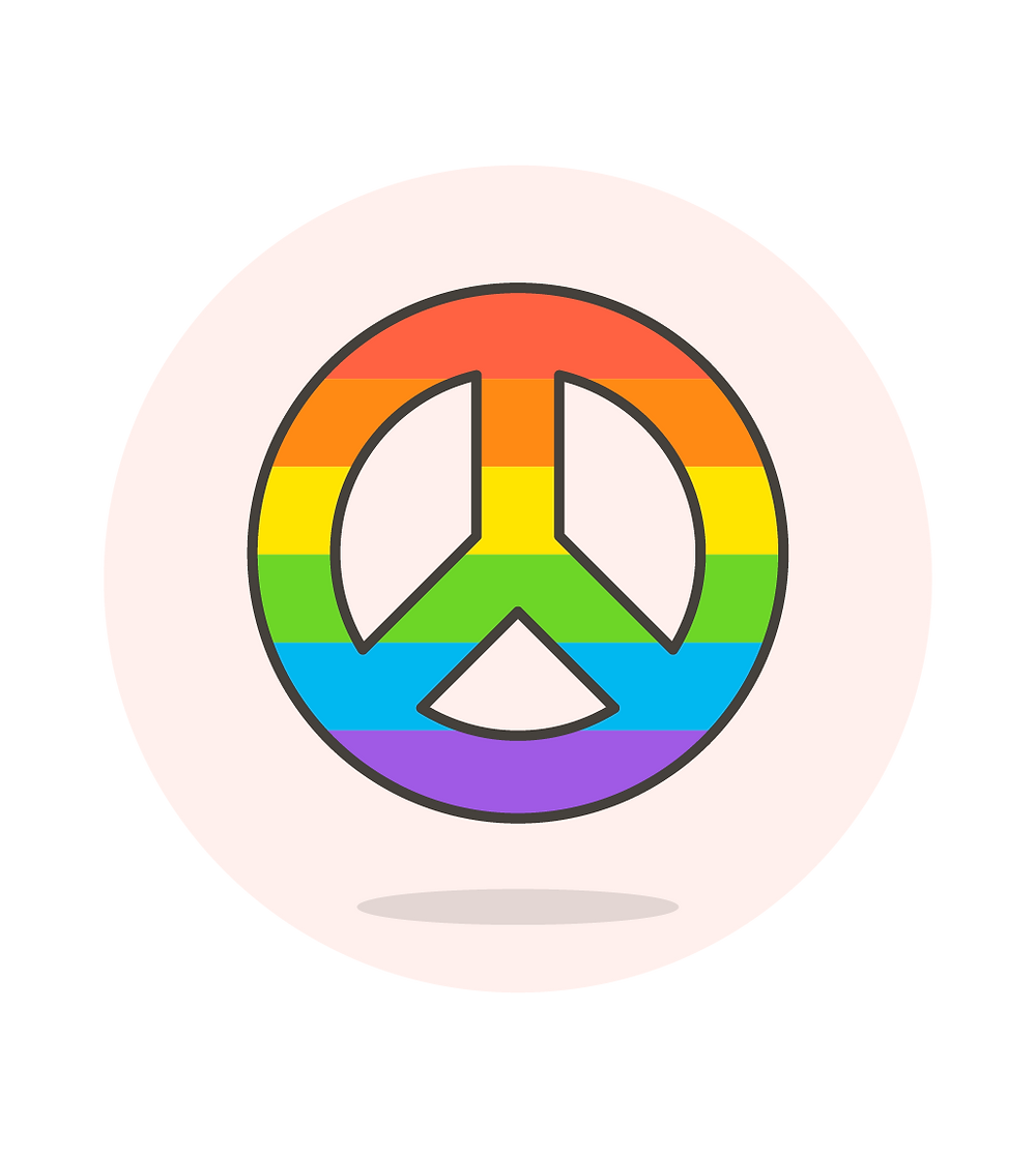LGBTQ+ Flag Peace