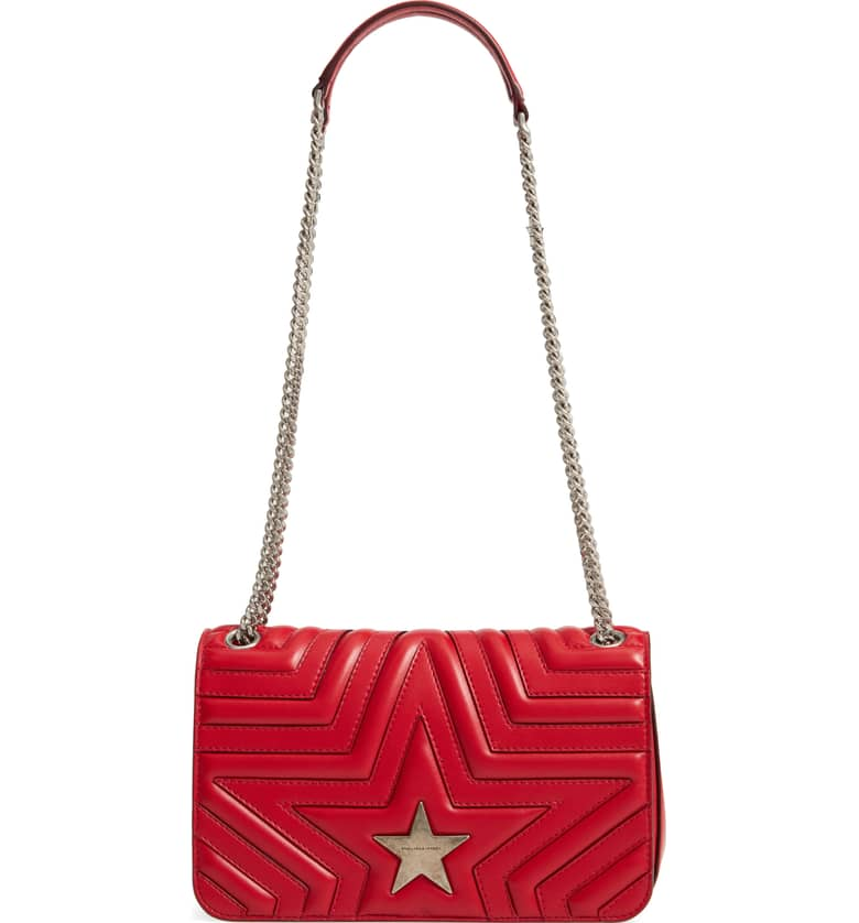 Star Faux Leather Crossbody Bag