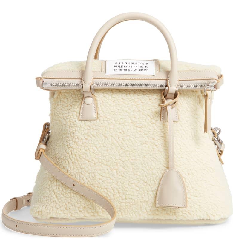 5AC Faux Shearling Handbag