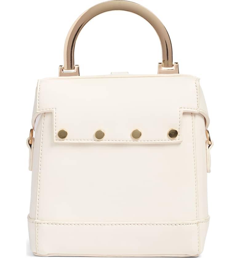 Top Handle Studded Bag B