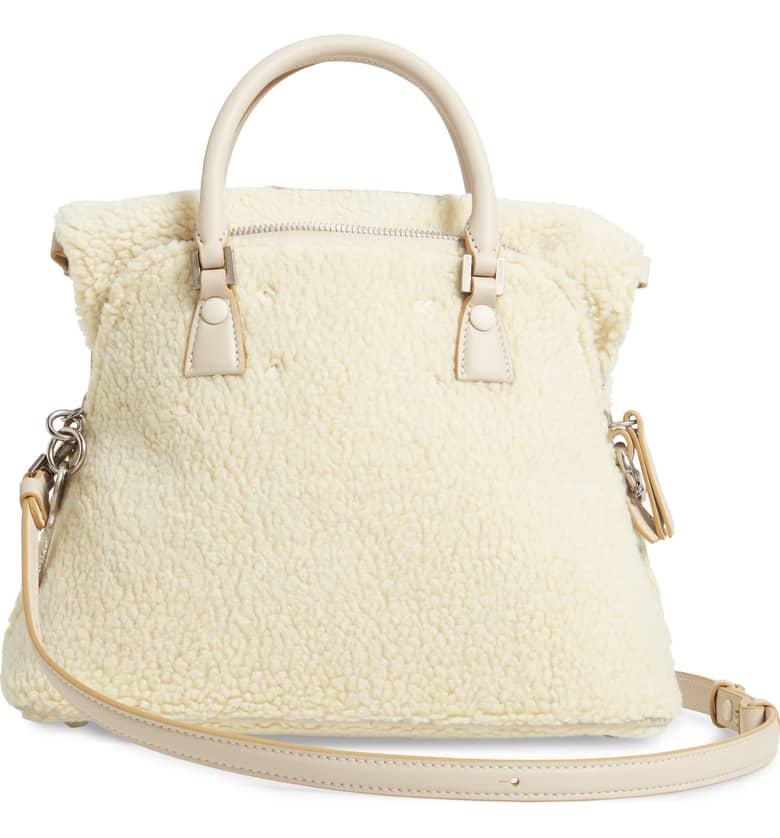 5AC Faux Shearling Handbag Back