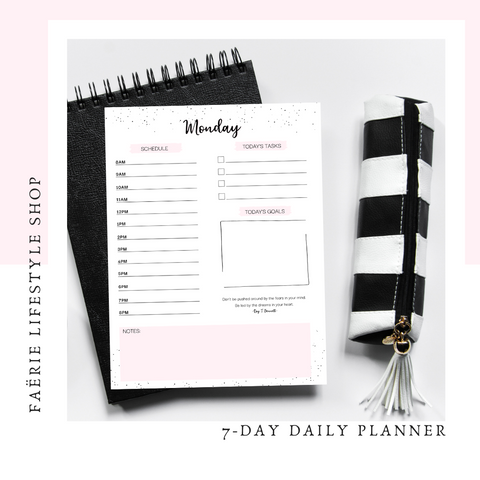 7 Day Daily Planner