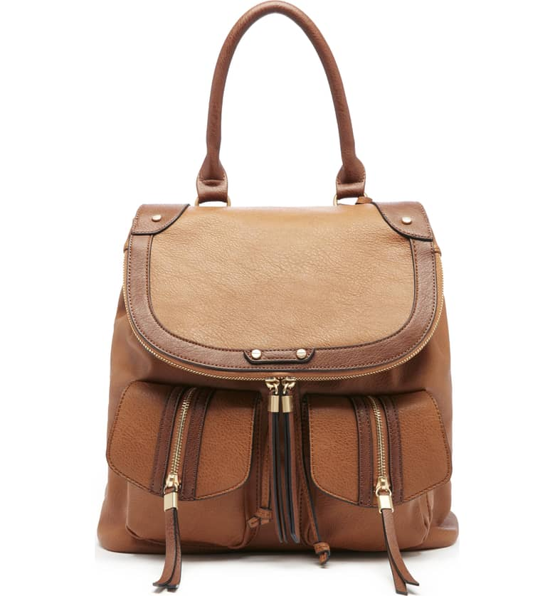 Happy Faux Leather Backpack