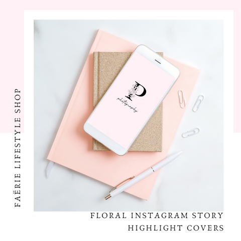 Floral Instagram Stories Highlight Covers