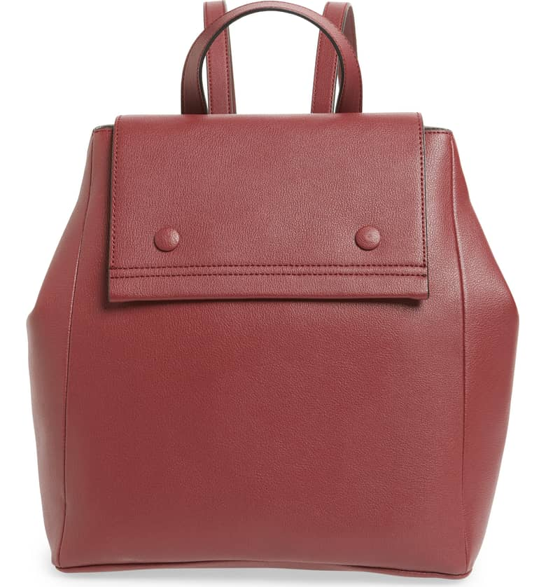 Nolan Faux Leather Backpack