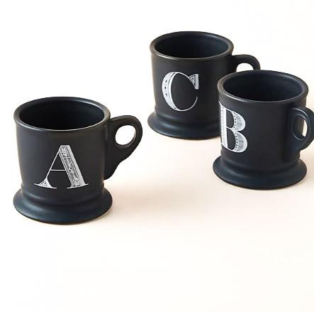 Noir Monogram Mug